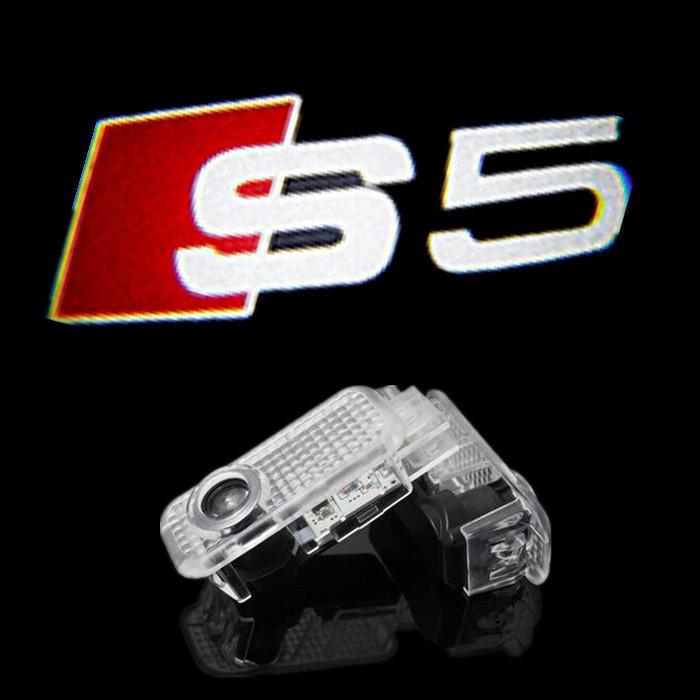 2pcs car door light ghost shadow welcome light logo projector emblem for audi a5 s5(China (Mainland))