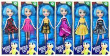 1 unids / 6 estilo Inside Out Doll Fantasy figuras de juguete de felpa de dibujos animados Octonauts las muchachas de la historieta Riley modelo regalo de los cabritos envío gratis C047