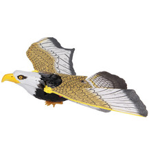 Free Shipping Electronic Animal Toy Flying Hanging Eagle with Light & Sound,Great Electronic Pet Toy Eagle for Kids brinquedo(China (Mainland))