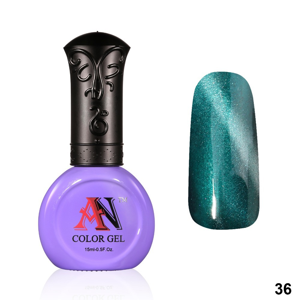 AN New Arrival Nail Gel Polish Magnetic Gel Cat Eyes Gel 15ml With a Free Magnet Stick 36 Colors For Choice(China (Mainland))