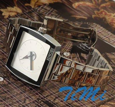 2010 New white Stainless Steel Quartz Wrist Mens Watch freeship<br><br>Aliexpress