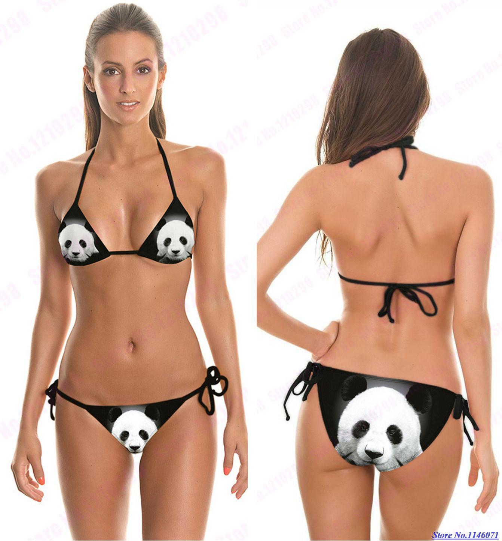 Trajes De Baño Estilo Halter: Estilo Beachwear Halter Trajes de baño de Dos Piezas Bikini Ráfaga N