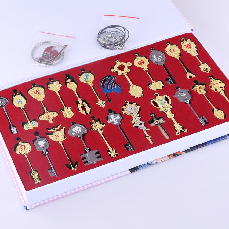 Fairy Tail toys Lucy Heartphilia protoss keys cos pendants 17pcs/set Metal 9cm 1:1 action figure free shipping<br><br>Aliexpress