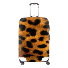 artistic elastic polyester travel luggage cover for girls,Animal fur print spandex luggage covers for adult,travel luggage cover(China (Mainland))