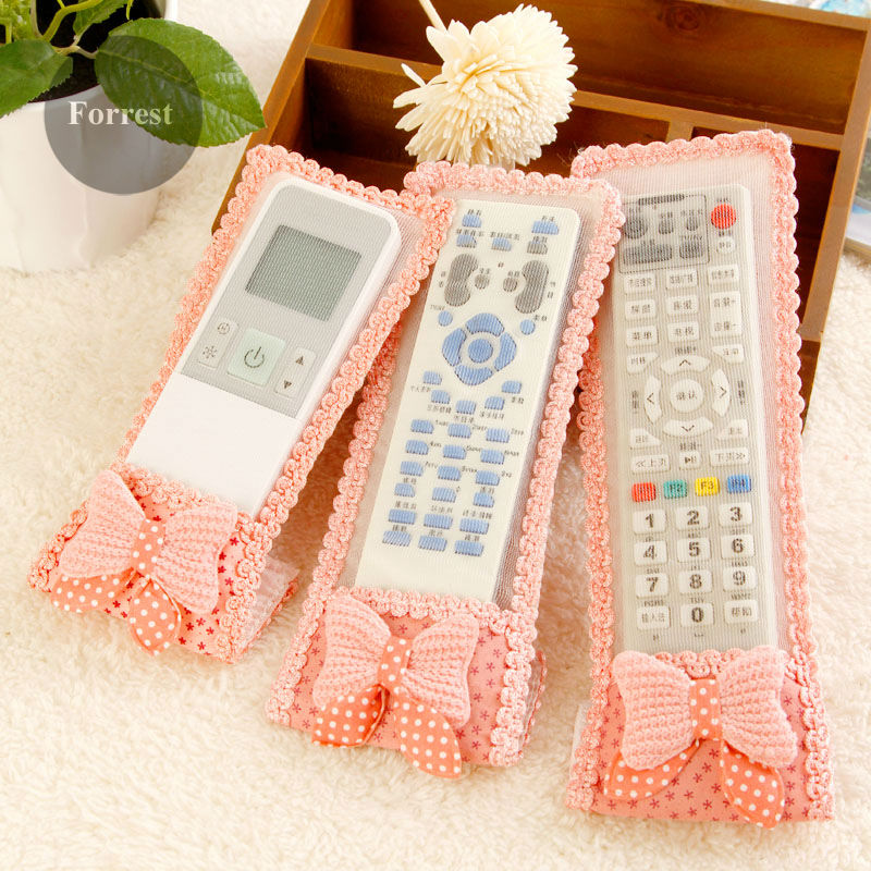 1PC Starry bow fabric cloth Anti-dust Air Conditioner TV Set Television TV remote control cover case protective capa para funda(China (Mainland))