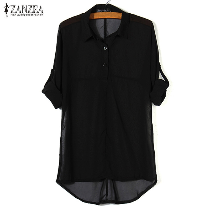 Plus Size S-5XL Blusas 2016 Summer Style Tops Women Casual Chiffon Lapel Batwing Sleeve Shirts Top Blouses Black Green White(China (Mainland))