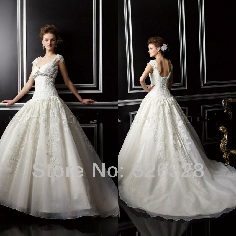 Luxury Wedding Dress 2016 New Dresses Nitree Cape Sleeve