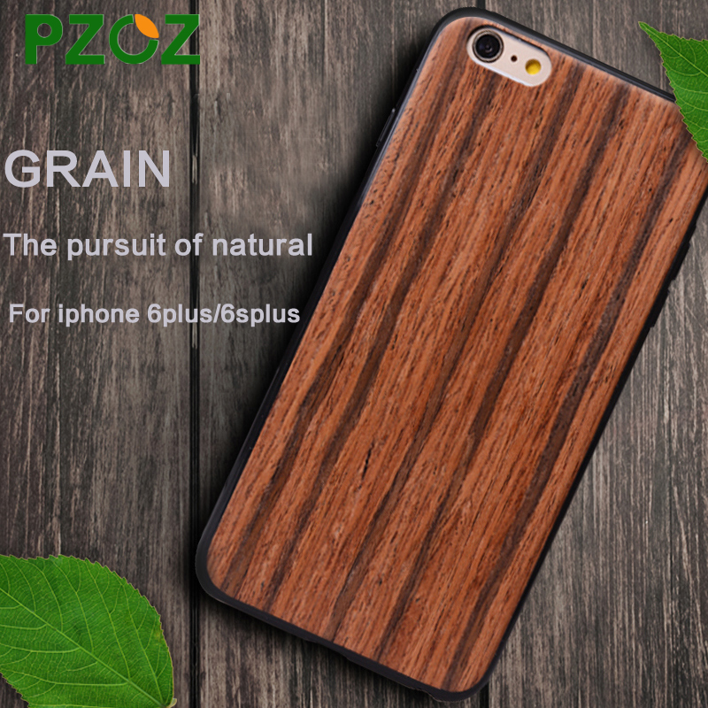 PZOZ ipone 6 case original For iphone 6 s plus case silicone cover luxury wood grain Shockproof Slim protection shell 4.7&5.5(China (Mainland))