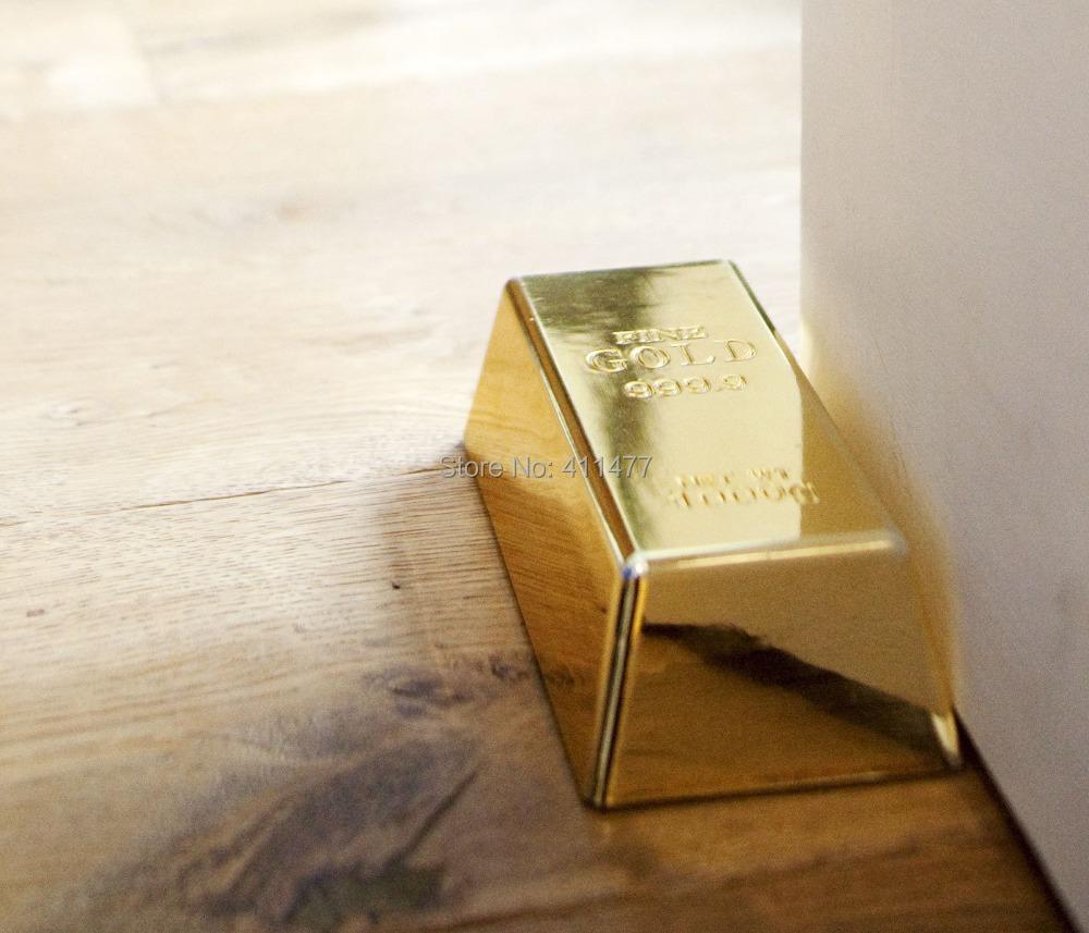 1kg fake gold bullion bar golden brick door stopper stop novelty doorstop gift in door stops - Novelty doorstop ...