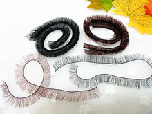 Black White Brown 3 Colors 1cm*20cm DIY Eyelashes for BJD SD Reborn Doll Eye Lashes for 1/3 1/4 1/6 1/8 Dolls Eyelash 30Pcs/Lot(China (Mainland))