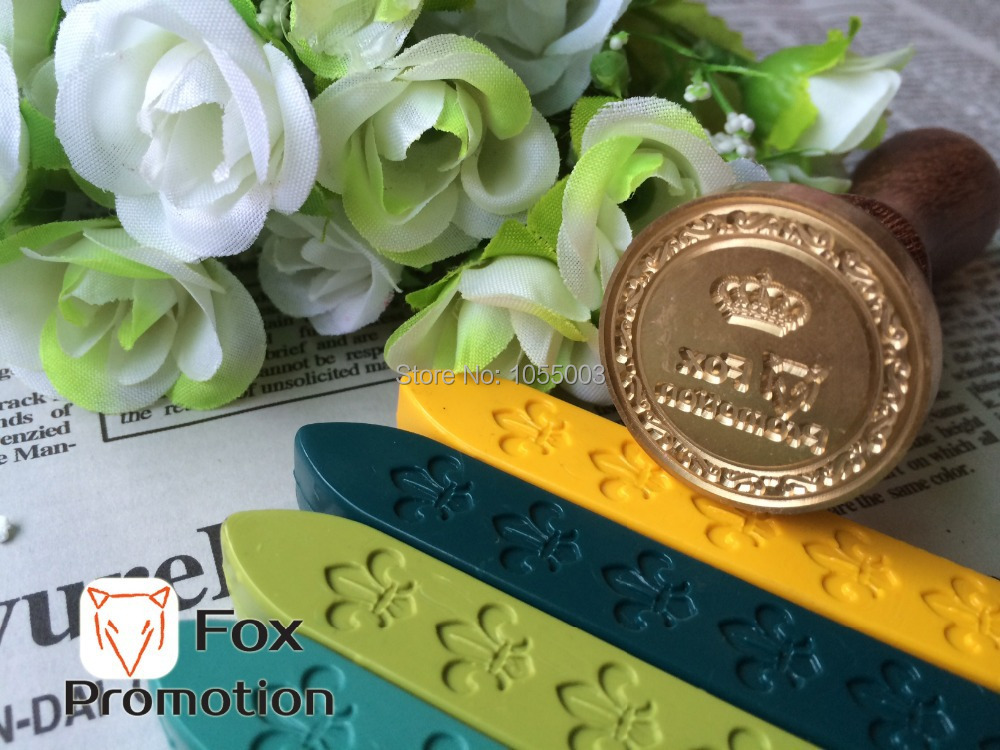 Customize Wax Stamp with Your Logo Only Brass Stamp Head DIY Ancient Seal Retro Stamp Personalized