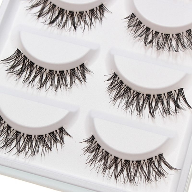 10 Pieces/1 set Natural Sparse Cross Eye Lashes Extension Makeup Handmade Long False Eyelashes YP(China (Mainland))