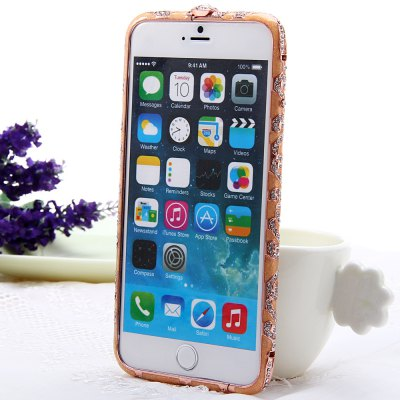 product Rose Gold Fashionable Metal Bumper Frame Case of Diamond Design for iPhone 6 Plus iPhone6 i6 Plus - 5.5 inches