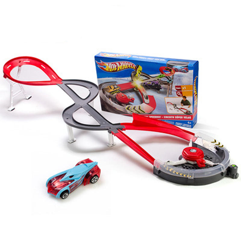 The new Alloy car track toy car containing tracks cyclotron S-shaped track runway projectile toys(China (Mainland))