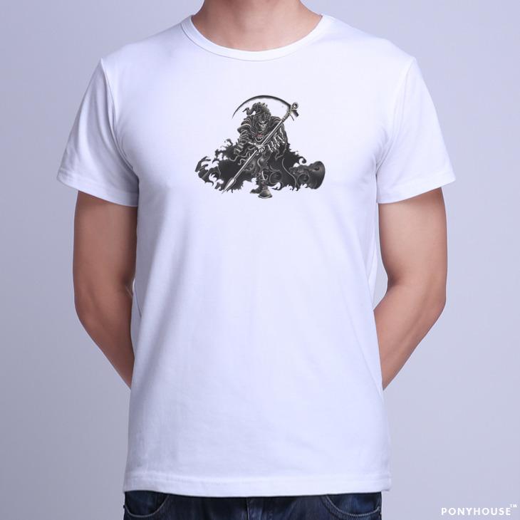 Гаджет  2015J KMQ BXM MVJ MWY REAPER SKULL death skull t-shirt short sleeved men None Изготовление под заказ