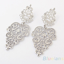 Hot 1pair Retro Vintage Alloy Women Silver Golden Long Bohemian Pierced Earrings 1NHW