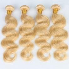 Buy 7A Top Grade 613 Blonde Virgin Hair Body Wave 4 Bundles Blonde Brazilian Hair Platinum Blonde Virgin Hair Human Hair Extensions for $119.00 in AliExpress store