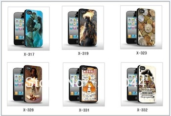 high quality 3d for iPhone 4 4s cell phone case free Shipping 079