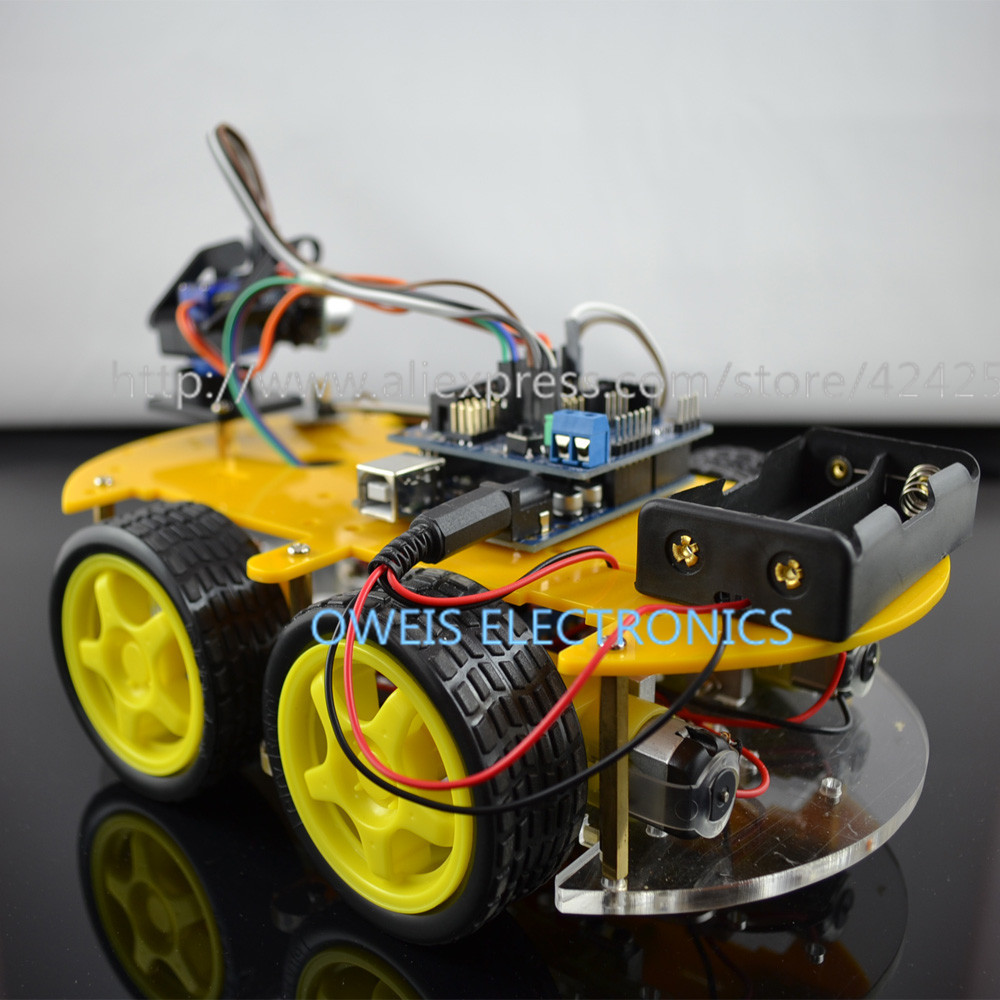 Wd bluetooth controlled line finder obstacle avoidance