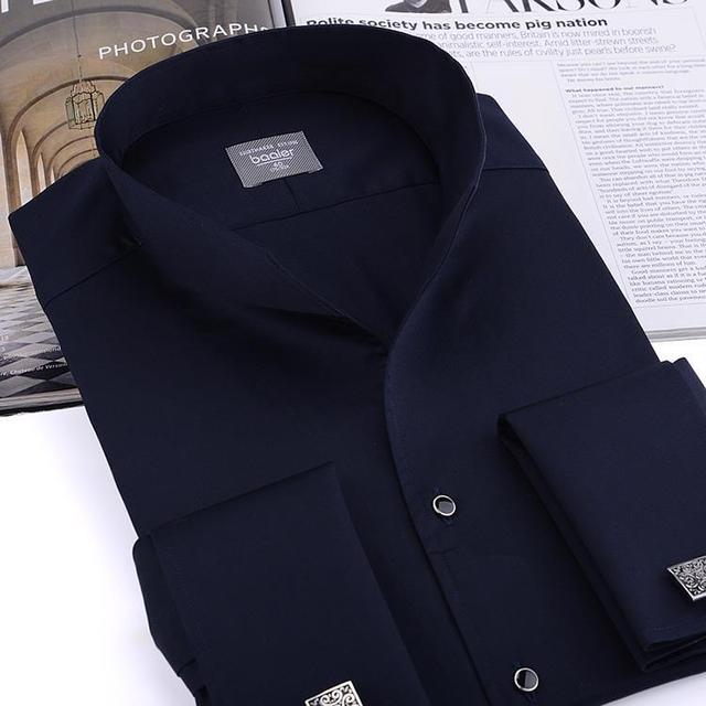 Мужская Мода Смокинг Рубашку, Французские запонки банкет, с длинными рукавами рубашки ...