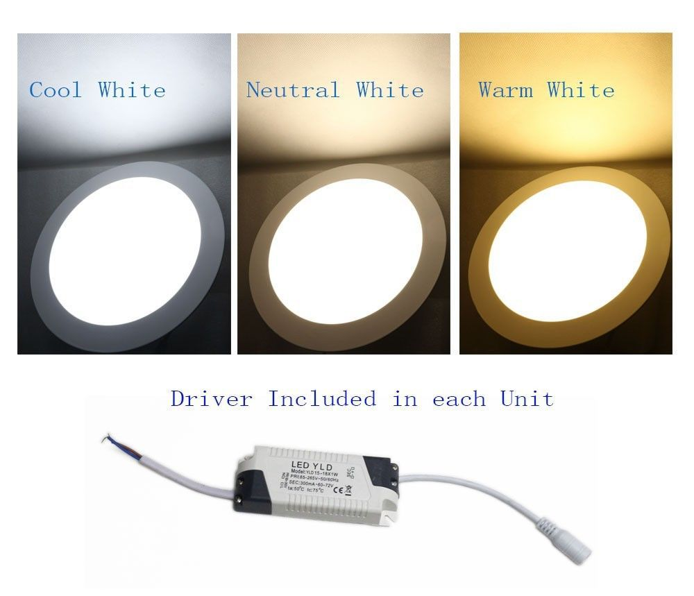 Brightest Recessed Lighting Bulbs : W bright led recessed ceiling panel down light bulb lamp