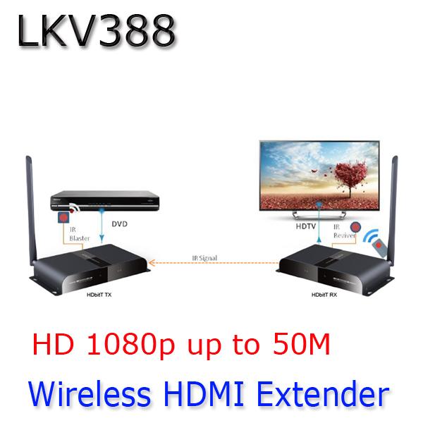 50M/164Ft Wireless Super HDbitT HDMI 1080P Extender Transmitter&Receiver Repeater,Free shipping(China (Mainland))