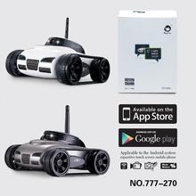 Wifi Realtime camera tank Mini RC tank W/ 0.3Mp Wi-Fi Camera i-spy tank controlled by smartphone/pad APP Rc Spy tank Rc car