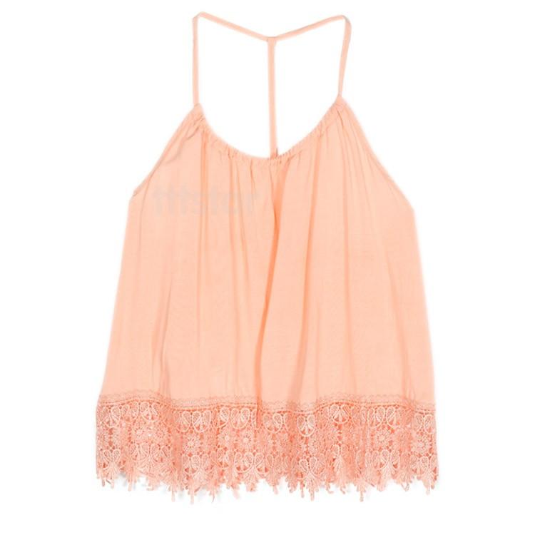 Big Sale 2015 Summer Vest High Quality Fashion Women Strap Chiffon Sleeveless Tank Tops Camis 12(China (Mainland))