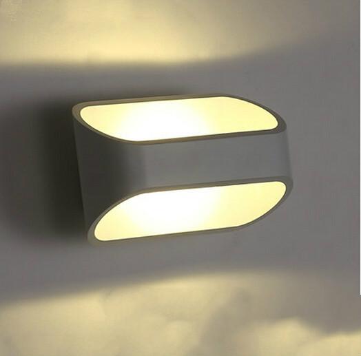 Вел творческий личность искусство белый свет стены Лампа прикроватная Лампа спальня современный минималистский белый коридоров, светильники.