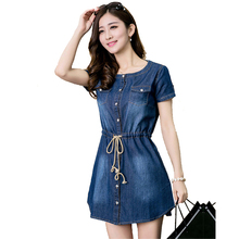 S-4Xl,5Xl Plus Size Women Big Size Jeans Dress Vestidos Mujer 2015 New Winter Denim Womens Shirts Dresses Party Boho Clothing 60