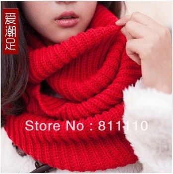 Trend Knitting   2013 Korea New Winter warm scarf thicken Wool knitting Scarves for men and women 12 Colors