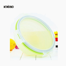 Travel Facility Portable Collapsible Folding Lunch Box Pocket Bowl Microwave and Dishwasher Safe FDA Approved Size L(China (Mainland))