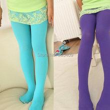 Factory price New Sweet Candy Color Kid Girls Velvet Legging Stretch Leggings Pants Stockings 12 Colors
