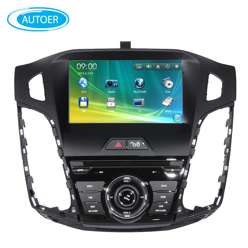 8 inch screen 2 DIN Car DVD player Radio stereo for ford focus with steering wheel control bluetooth USB DVD GPS free map 2012(China (Mainland))