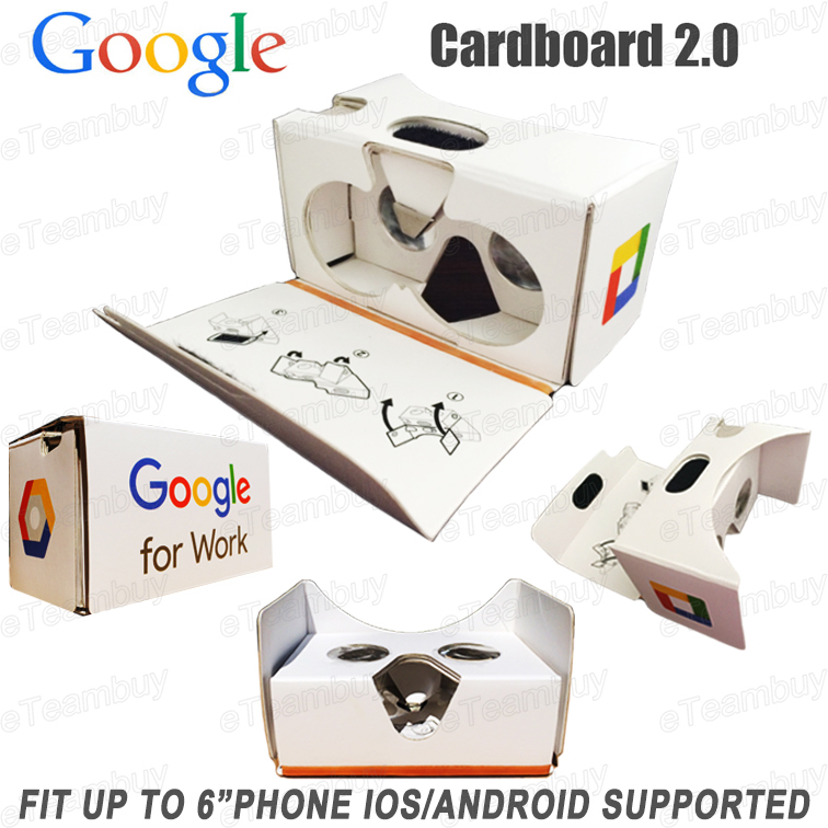 design Google cardboard 2.0 3D glasses Virtual Reality Mobile Phone Viewing Glasses VR 3.5- 6 inch Smart - eTeambuy store