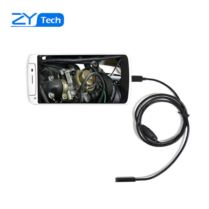 2m Waterproof Android PC Endoscope with 7mm 6LED Lens HD Pinhole Camera Inspection Borescope Endoscopy for Android Phone PC(China (Mainland))