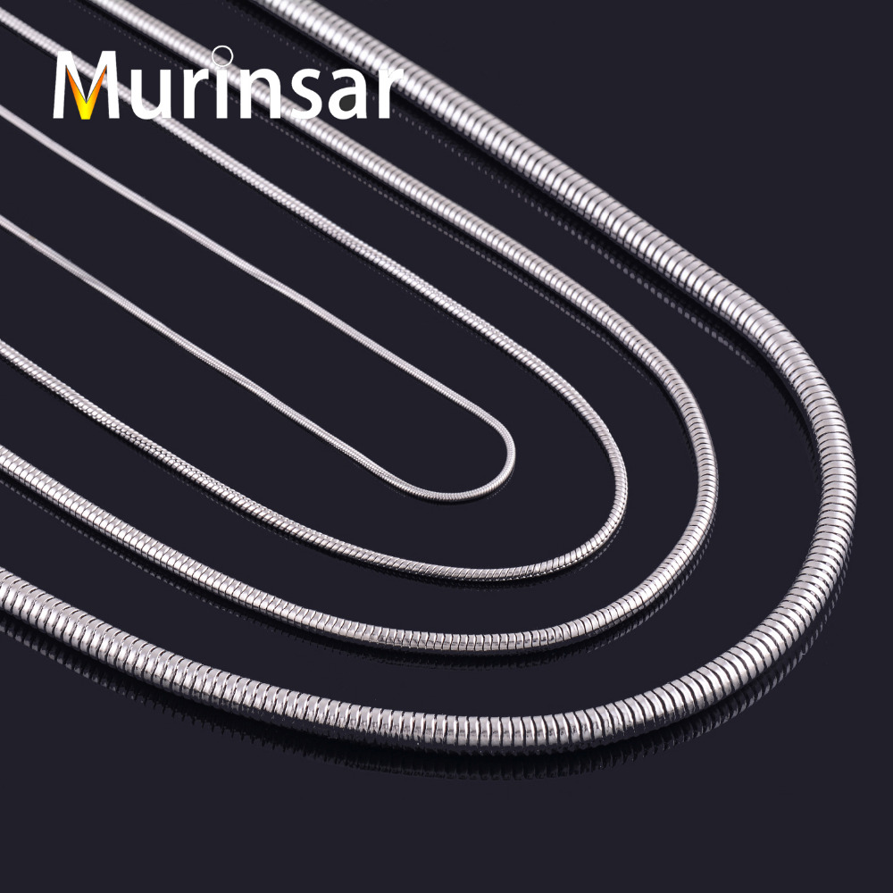 Width 1mm/1.5mm/2.5mm/4mm Stainless Steel Snake Chain Necklace High Quality Charm Pendant Necklace Match Rolo Chain Necklace(China (Mainland))