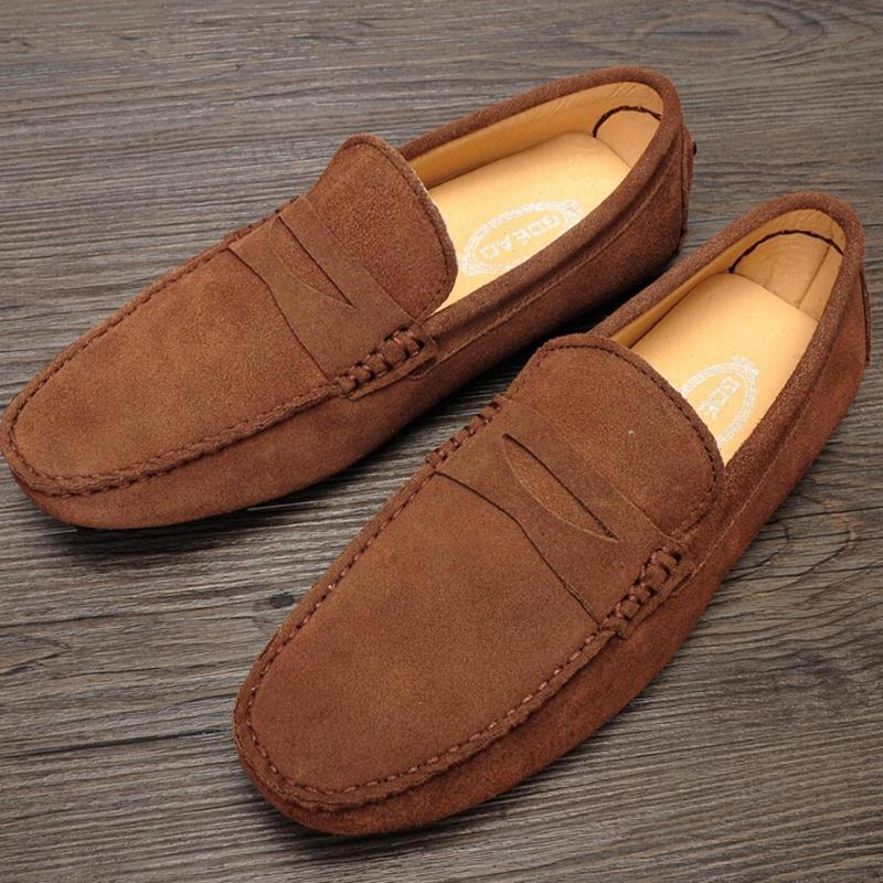 2015 spring men shoes fashion mens flats casual shoes men suede leather gommini loafers moccasin sapatos masculinos FD-006<br><br>Aliexpress