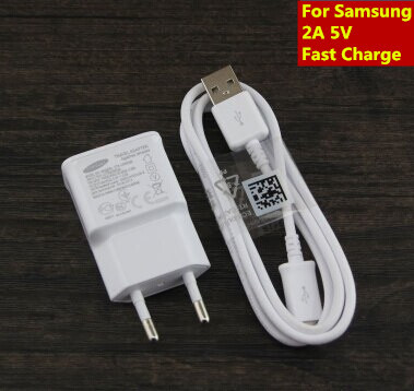 Hot Sale Original USB Cable+2A Adapter US/ EU Plug Wall Charger For Samsung Note2 N7100 S4 i9500 S3 i9300 Phone Fast Charging(China (Mainland))