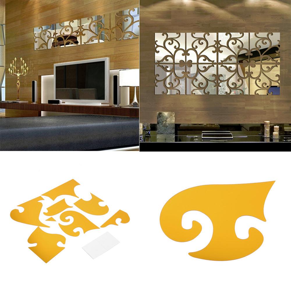 Modern geometric plastic mirror wall home decal decor vinyl art sticker diy new arrival in wall Home decor line wall stickers