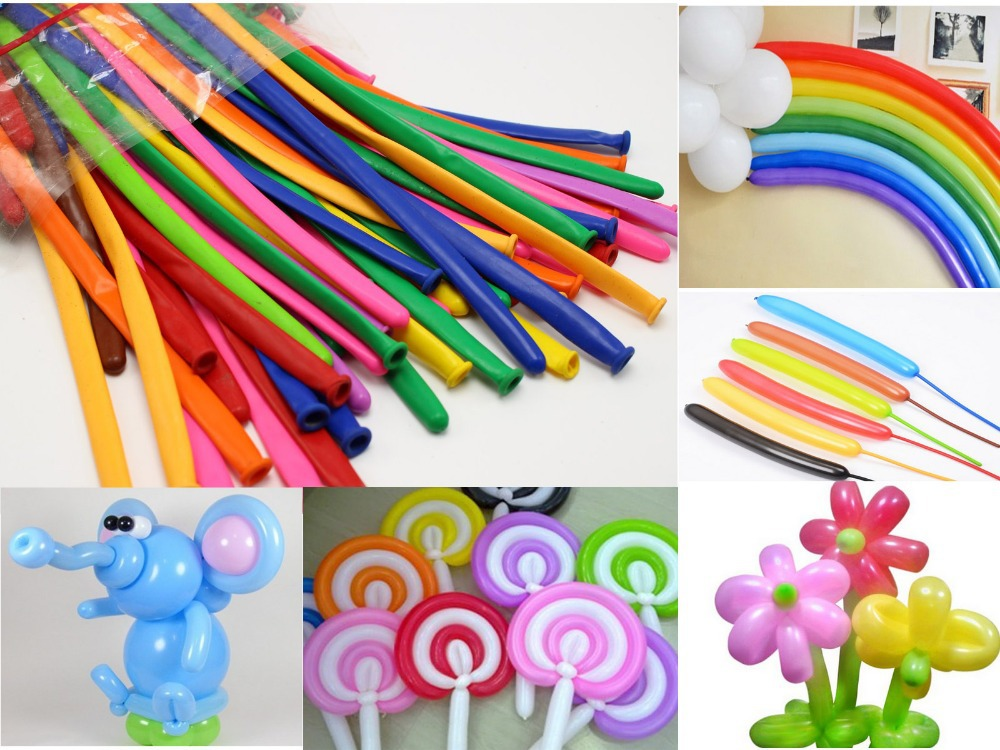 100pcs Mixed Color Magic Long Animal Tying Balloons Twist Latex Balloons(China (Mainland))