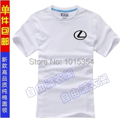 lexus men and short-sleeved cotton T-shirt female Slim style Korean clothes clothing lexus cotton T-shirt(China (Mainland))