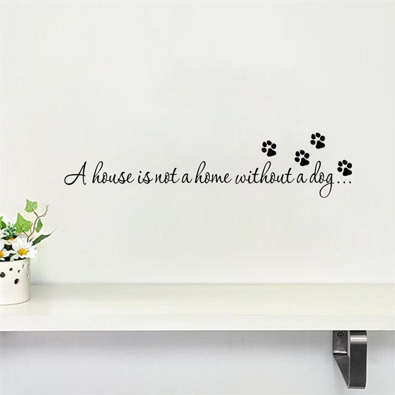 Diy Dog Wall Decor : Aliexpress buy warm dog quote home pet store