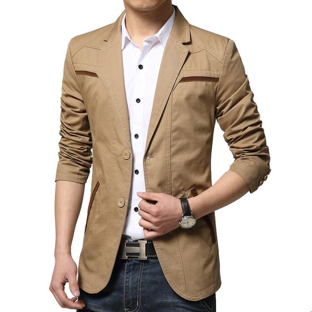 2016 новая весна мода марка карманный лоскутная пиджак мужчины свободного покроя ...