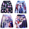 Summer style New 2016 sexy Women s fashion Beauty Beast romance SKATER SKIRTS LIMITED Digital Print
