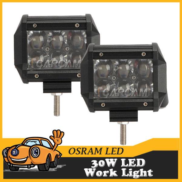 4 Inch OSRAM 30W Offroad LED Work Light 12V 24V ATV Car Motorcycle 4X4 4WD Truck Trailer Driving Lamp Flood Beam(China (Mainland))