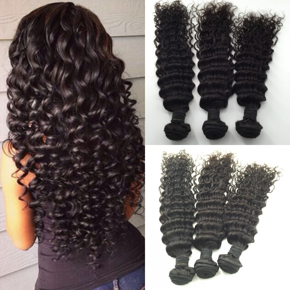 8A Grade Unprocessed Hair Burmese Hair Deep Curly 3 Bundles Burmese Deep Wave QDPrincess Hair Store Weave<br><br>Aliexpress