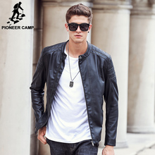 Pioneer Camp 2016 new fashion autumn winter men leather jacket brand clothing motorcycle jacket male coats leather jackets men(China (Mainland))