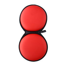 New 1pcs Red Pocket Hard Carrying Case Bag for Earphone Headphone SD USB Cable High Quality Brand New