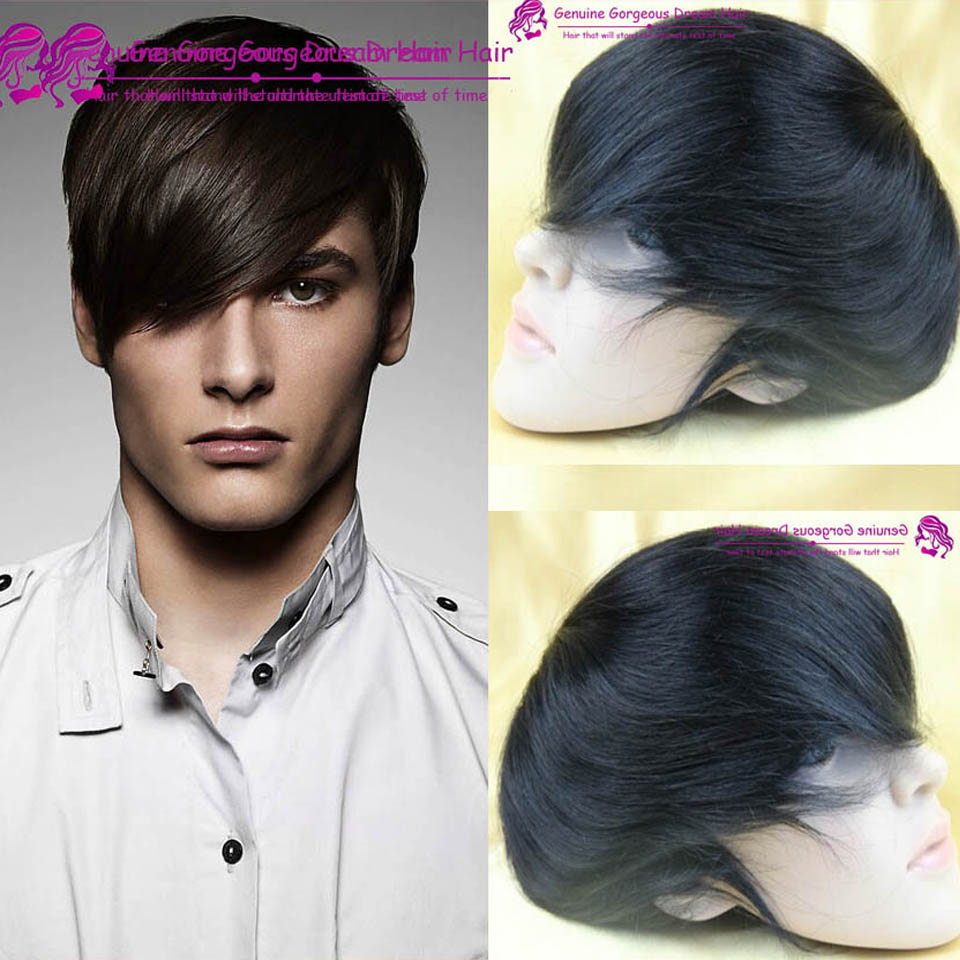 "6inch Mens toupee 7""x9"" human hair toppers hair men's hair systems pieces mono base toupee indian remy human hair toupee"